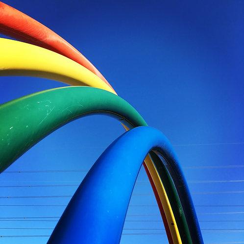 Arc en ciel de lignes
