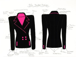 The black and pink beaded blazer