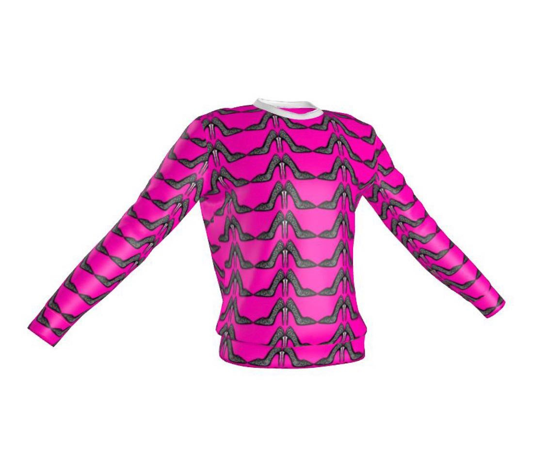The hot pink stiletto printed sweatshirt