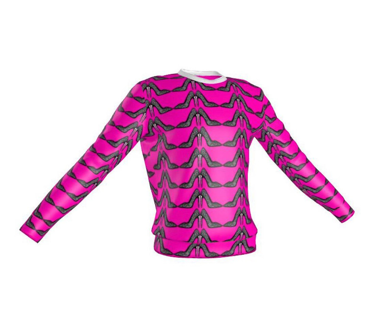 The hot pink stiletto printed sweatshirt