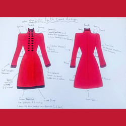 Vintage style red coat
