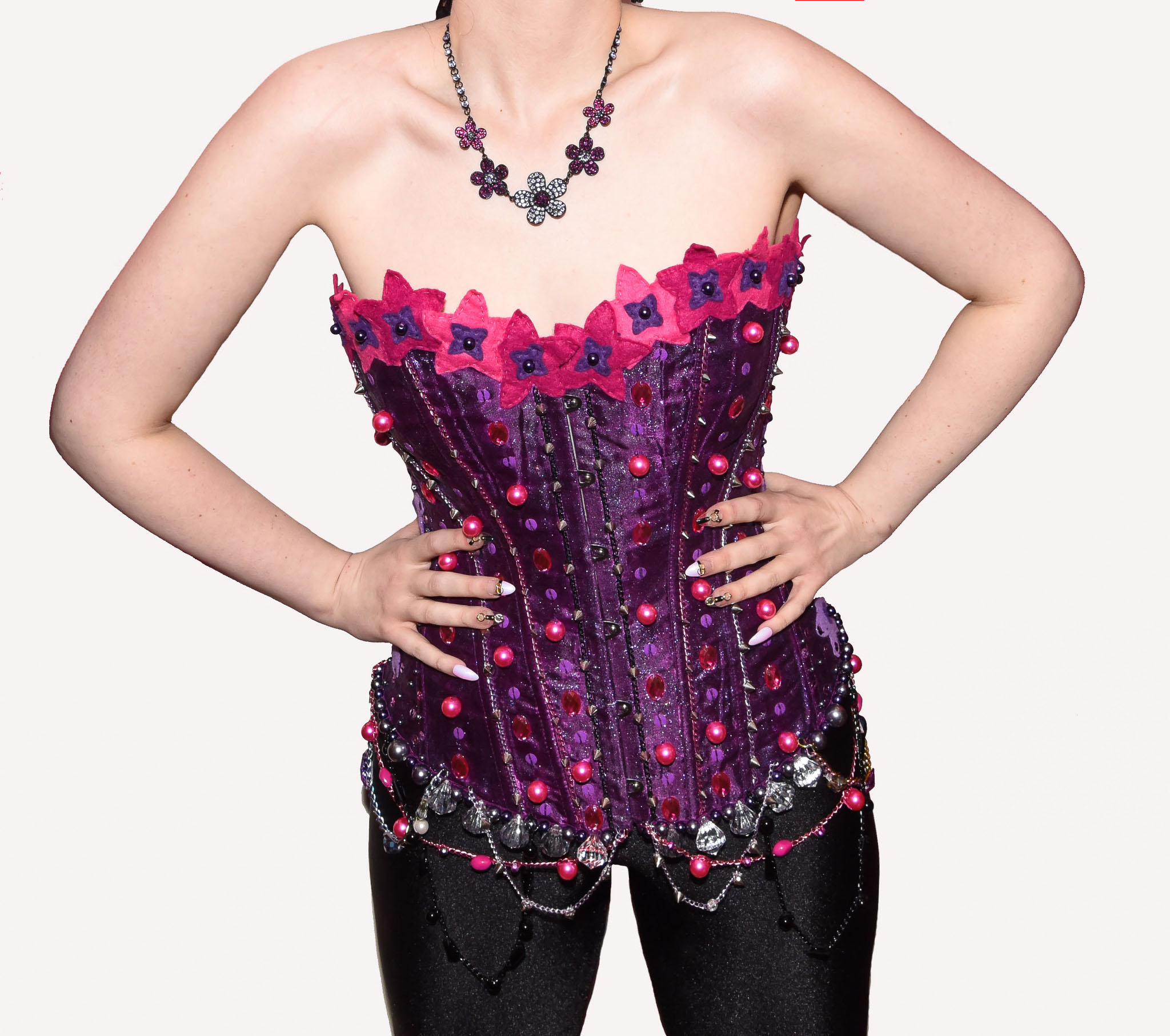 Purple & pink corset