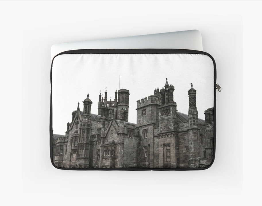 The haunted house laptop sleeve