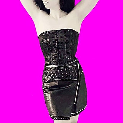 Corsets and leather with bright colours
