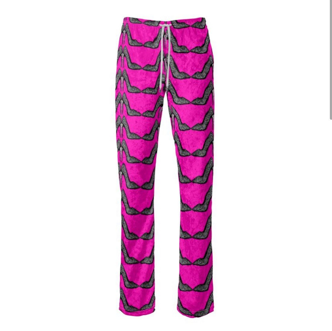 The hot pink stiletto printed trousers