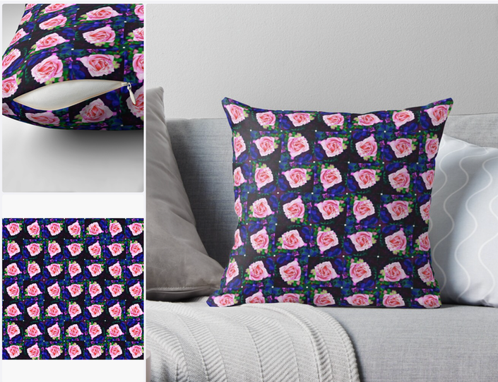 The rose Floral cushion