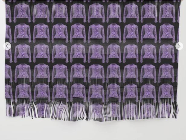 Lilac Jacobean jacket print wall hanging