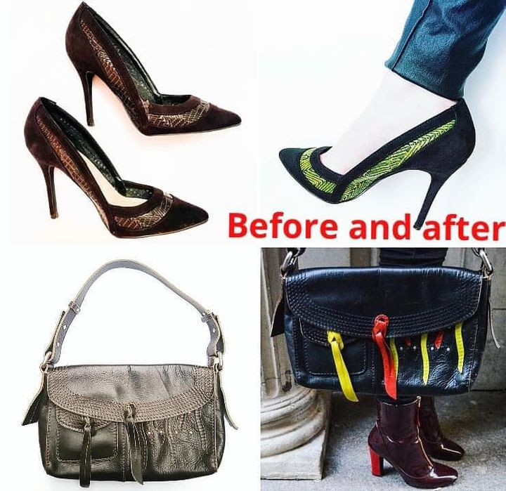 Before & After heels/bags