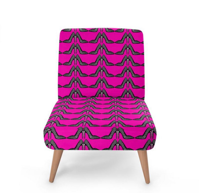 The hot pink stiletto heel printed chair