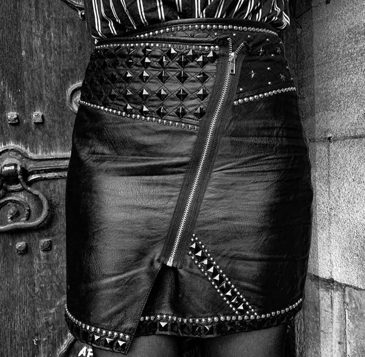 Custom leather skirts