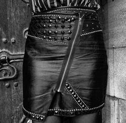 Custom leather skirts
