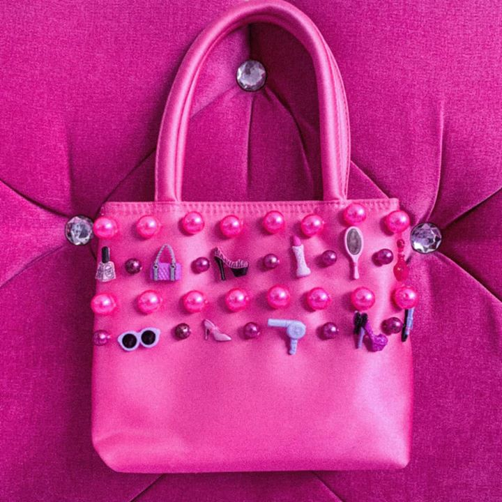 The pink Barbie bag