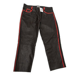 Hand painted leather trousers