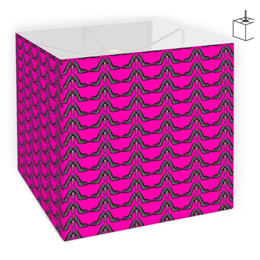 The hot pink stiletto printed ceiling/lampshade