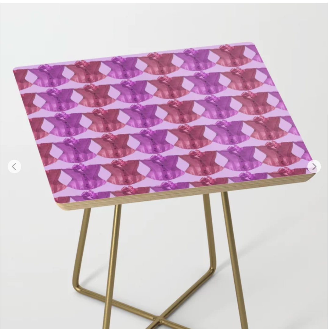 Colourful corsets side table