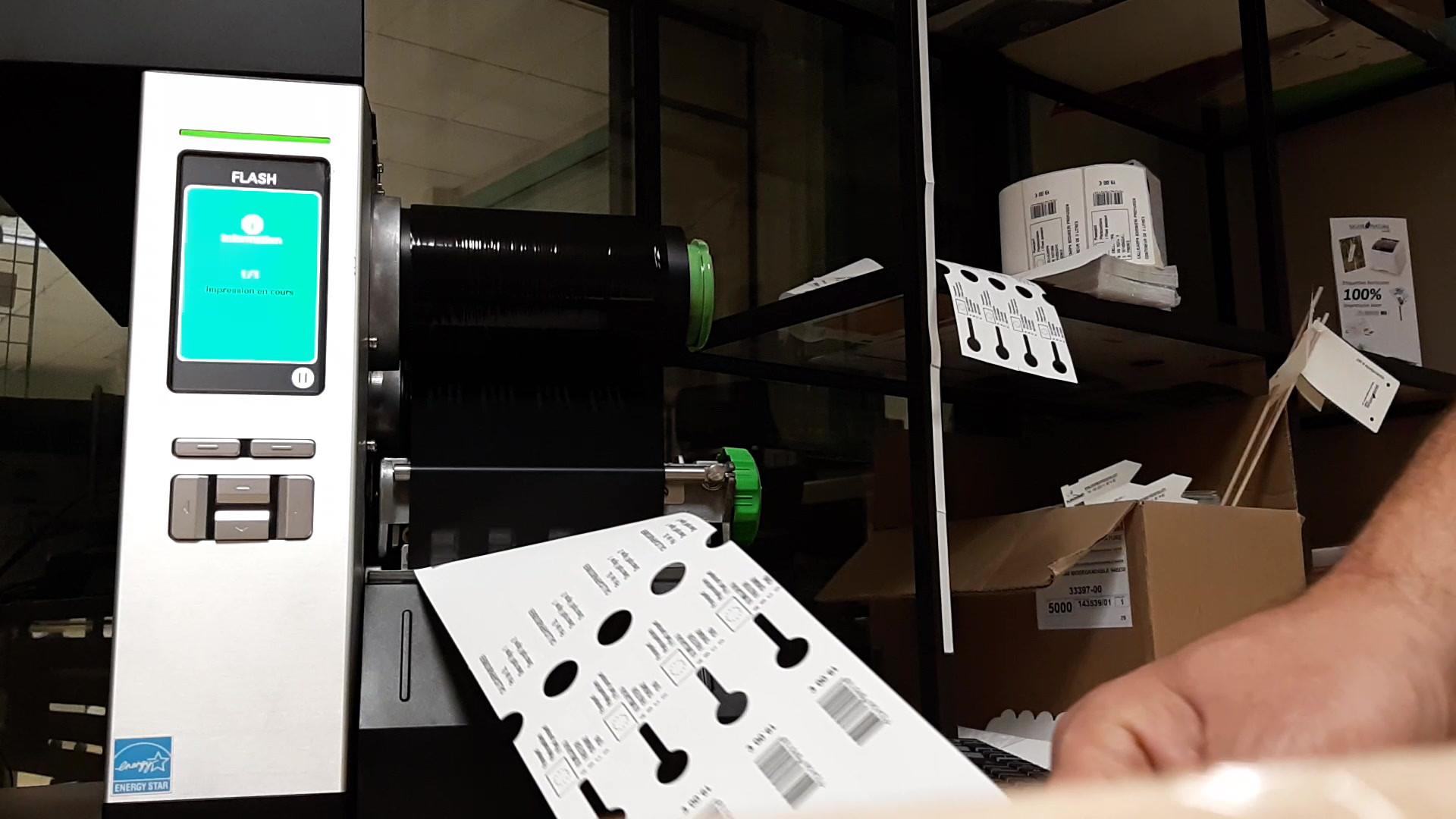 imprimante autonome transfert thermique
