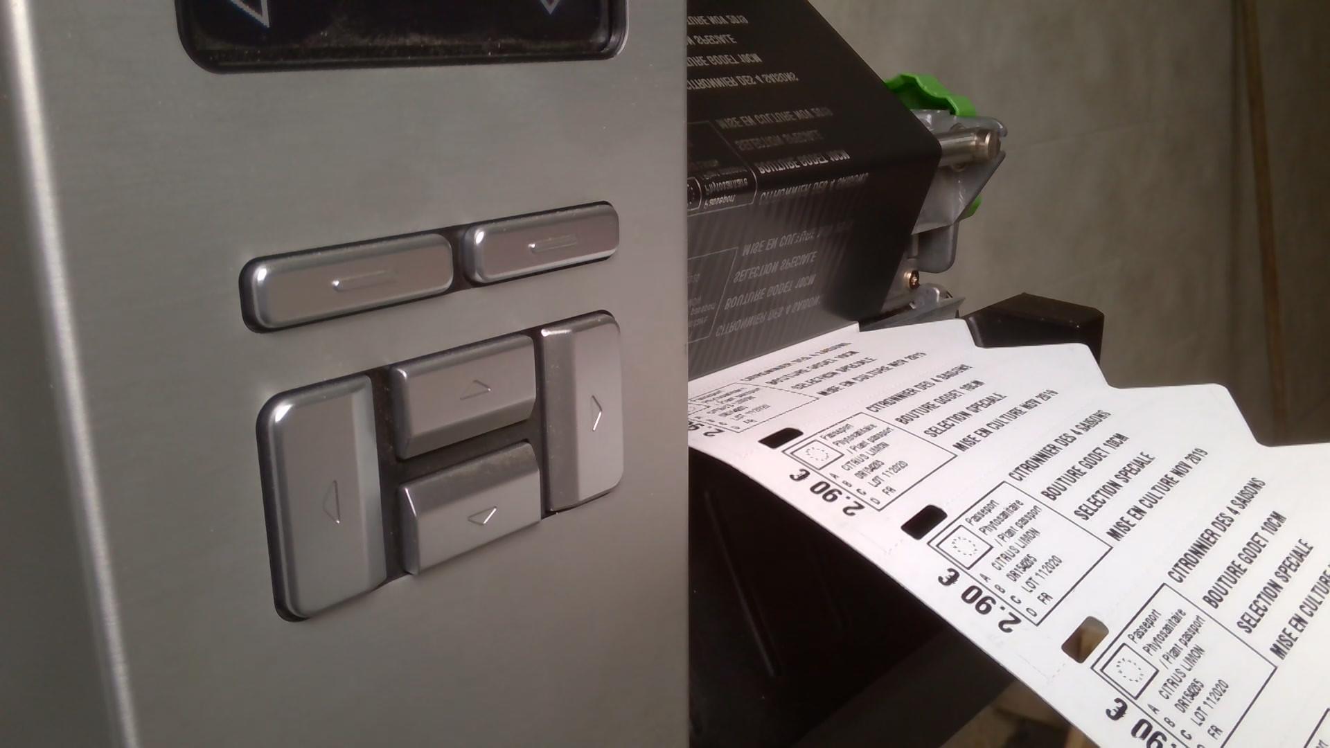 étiquettes a piquer avec imprimante auto