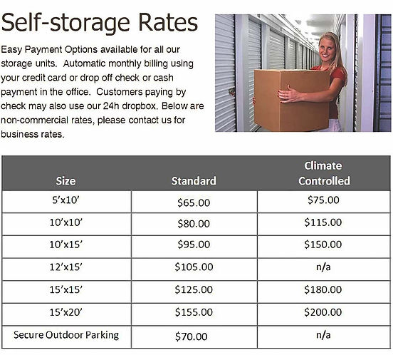 self storage versailles ky rates 7212020