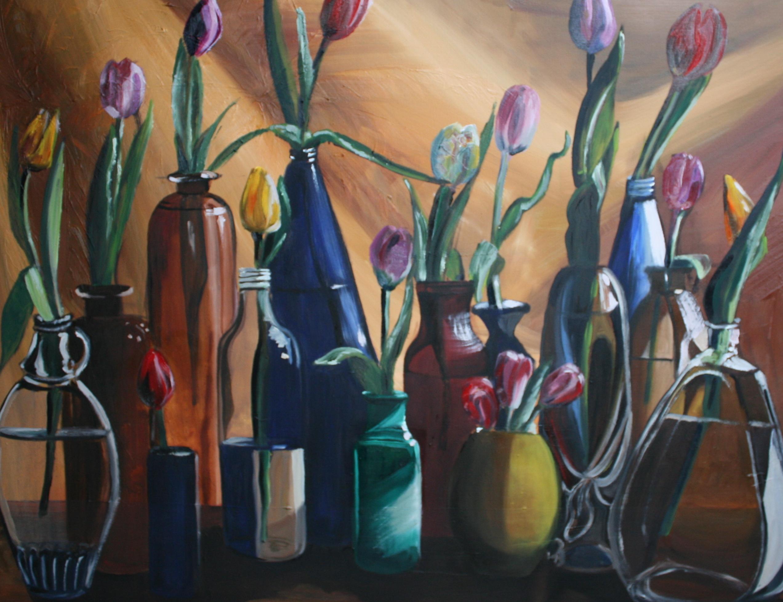 Tulpen in de fles
