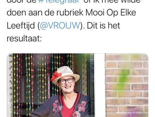Online interview in de Telegraaf.