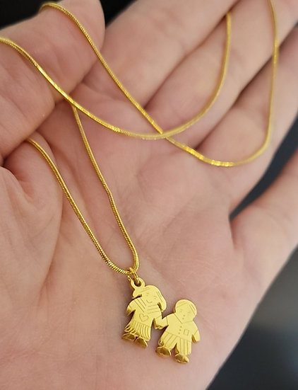Gold Plated Boy and Girl Charm