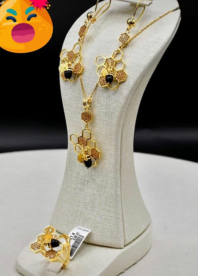 Beehive . bracelet.necklace.earring..ring size 7/8/9