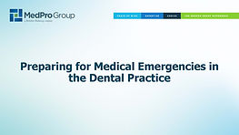 Preparing for Medical Emergencies in the