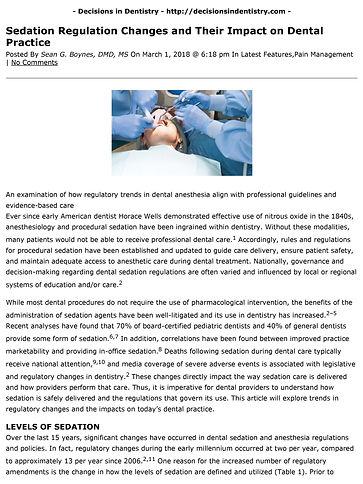AAFDO new sedation regulations dentists must know