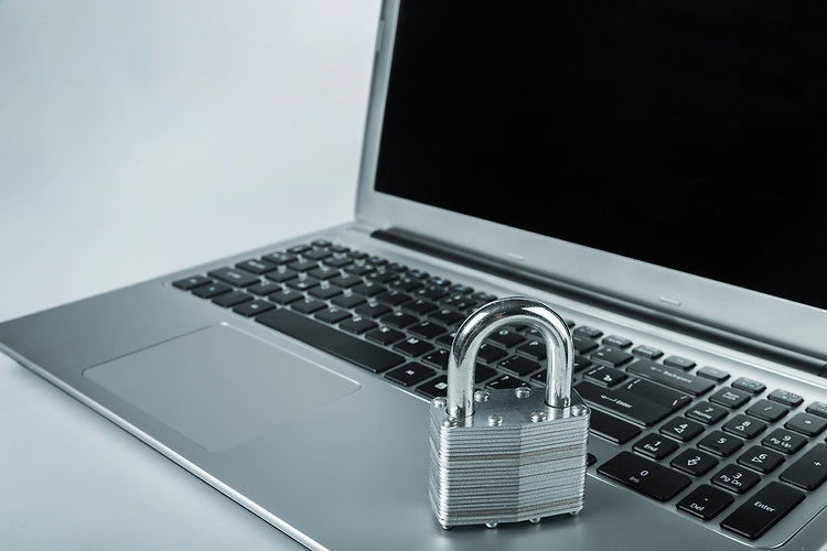 Laptop with Lock on it