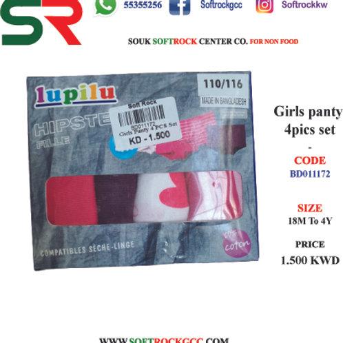 Girls panty 4pics Set