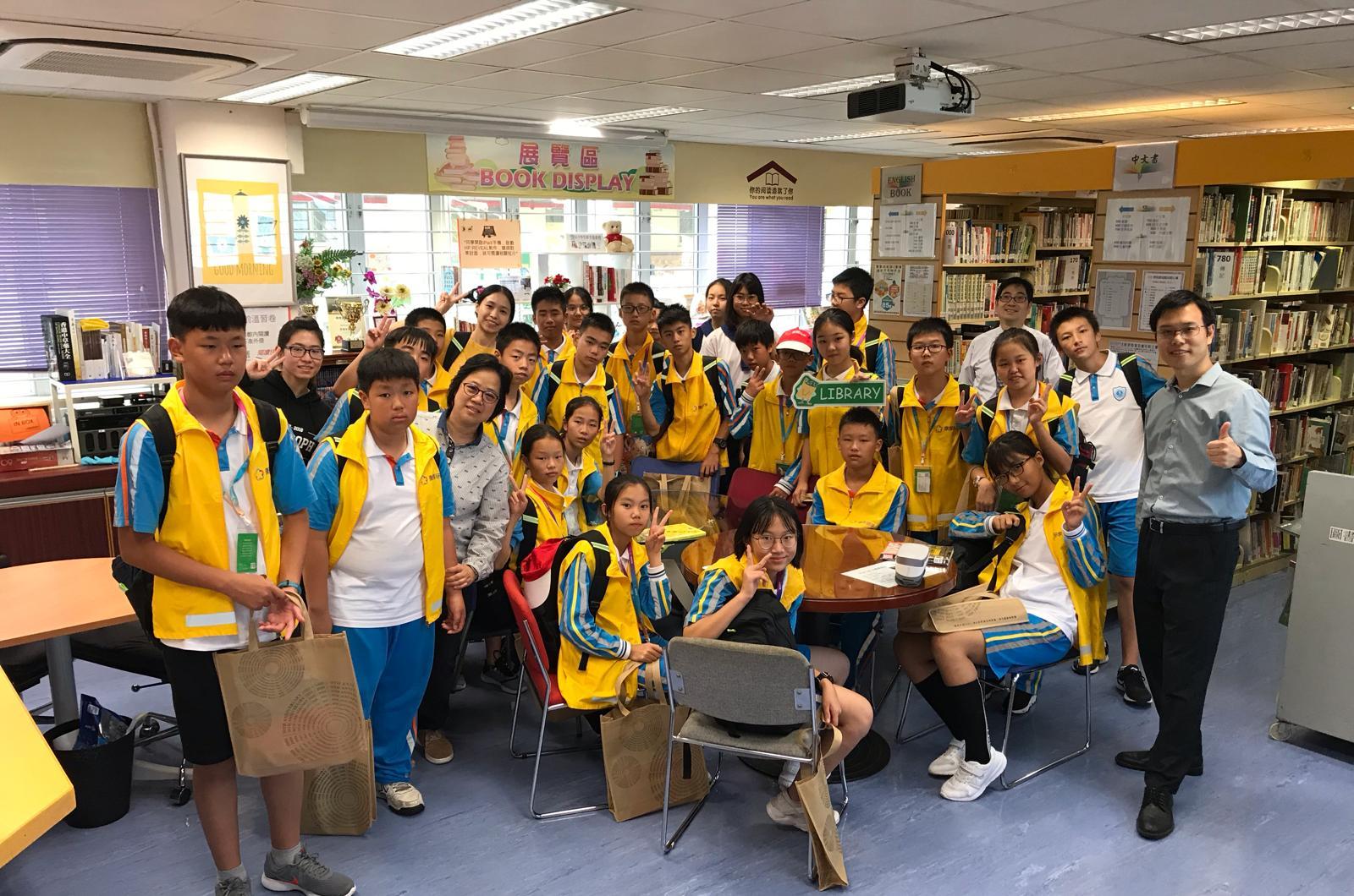 16/11/2018 東莞松山湖實驗中學同學參觀圖書館。