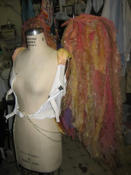 Constructed feathers for angel wings