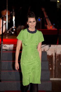 Patterned and stitch wiggle dress