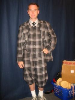 Stitched Plaid Suit