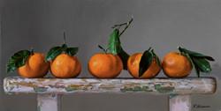 Wet tangerines