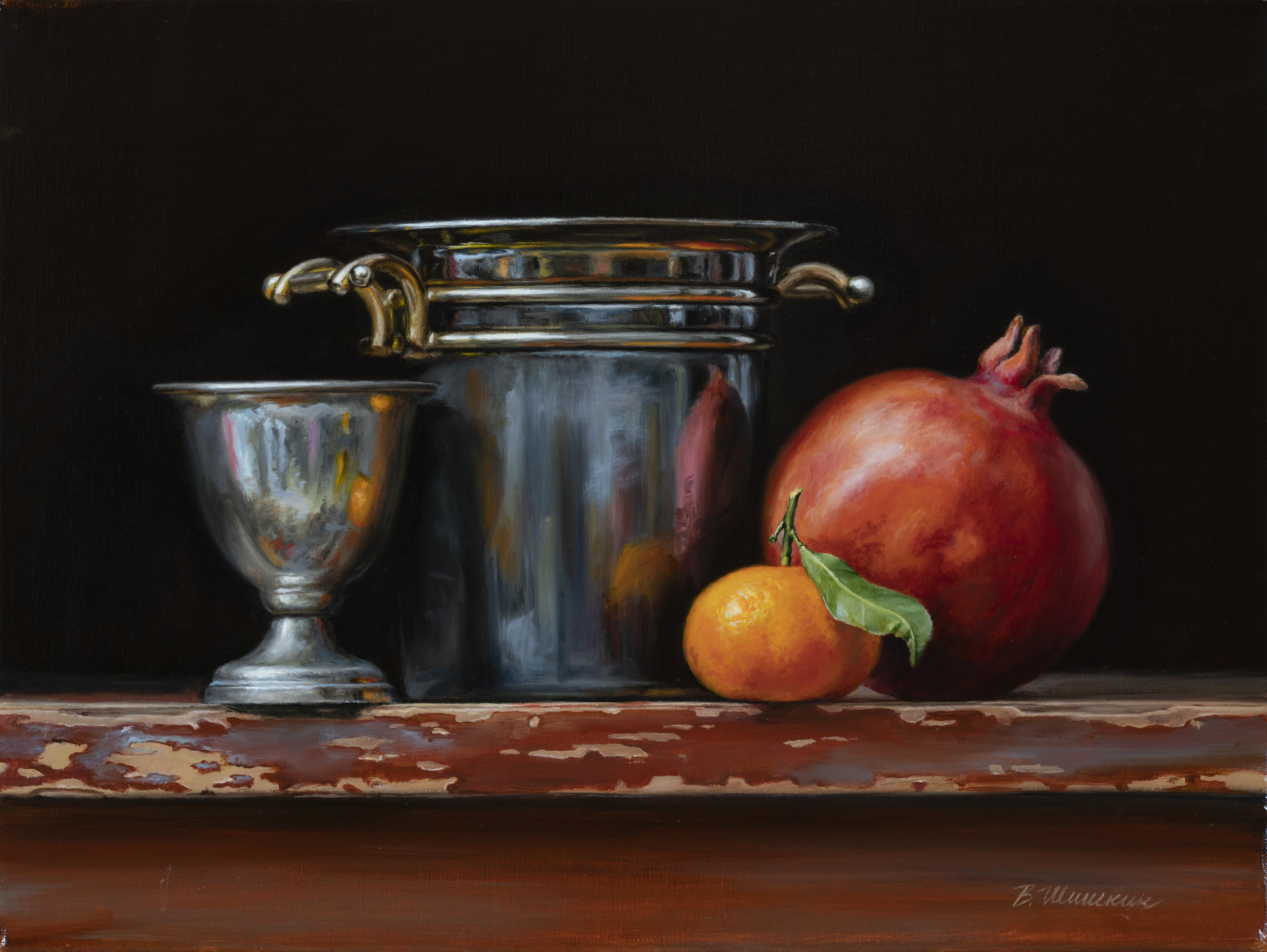 Pomegranate and tangerine