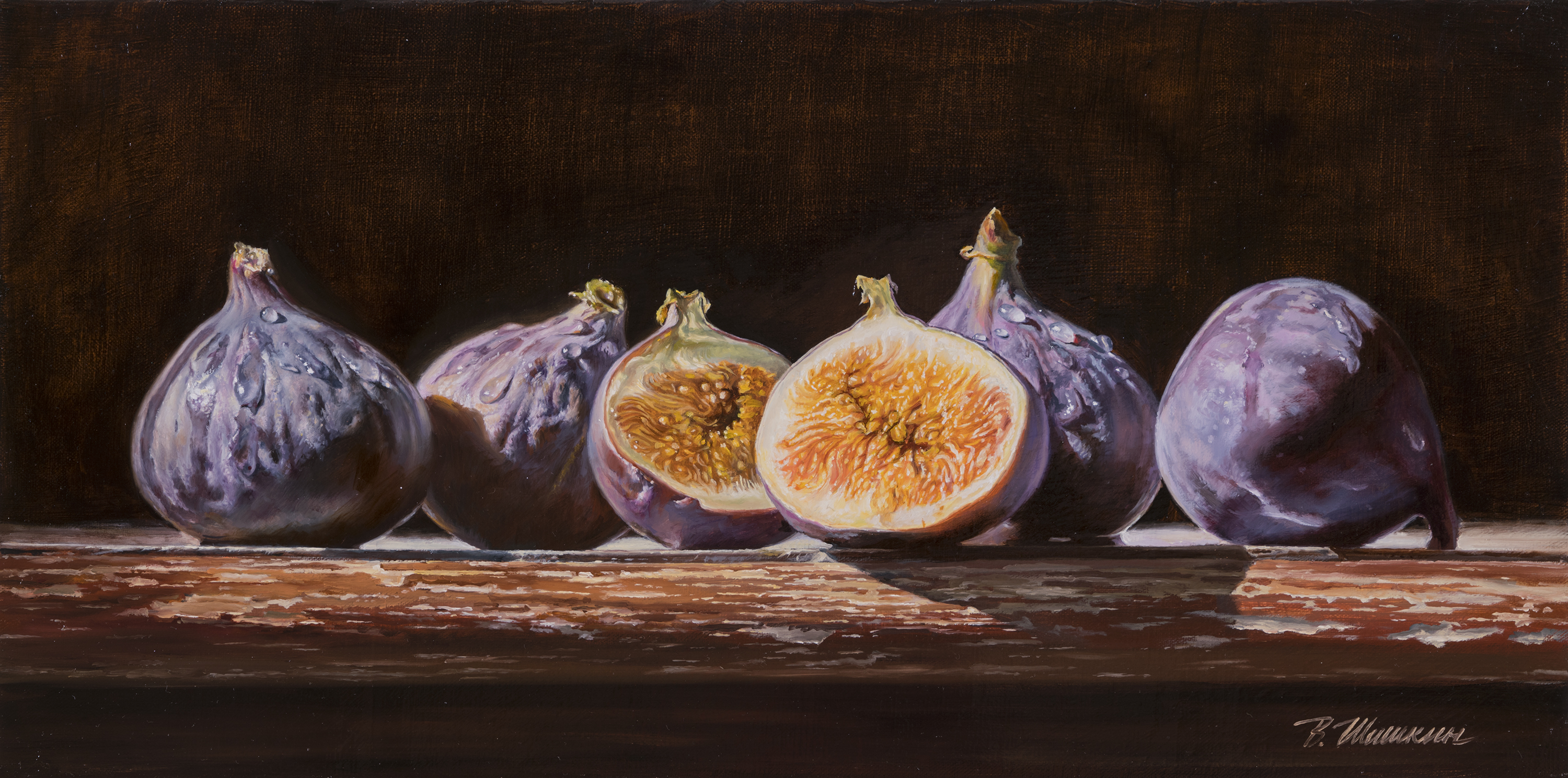 Figs on a dark