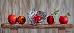 Apples in foil