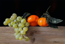 Grapes and tangerines