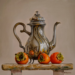 Teapot with persimmon
