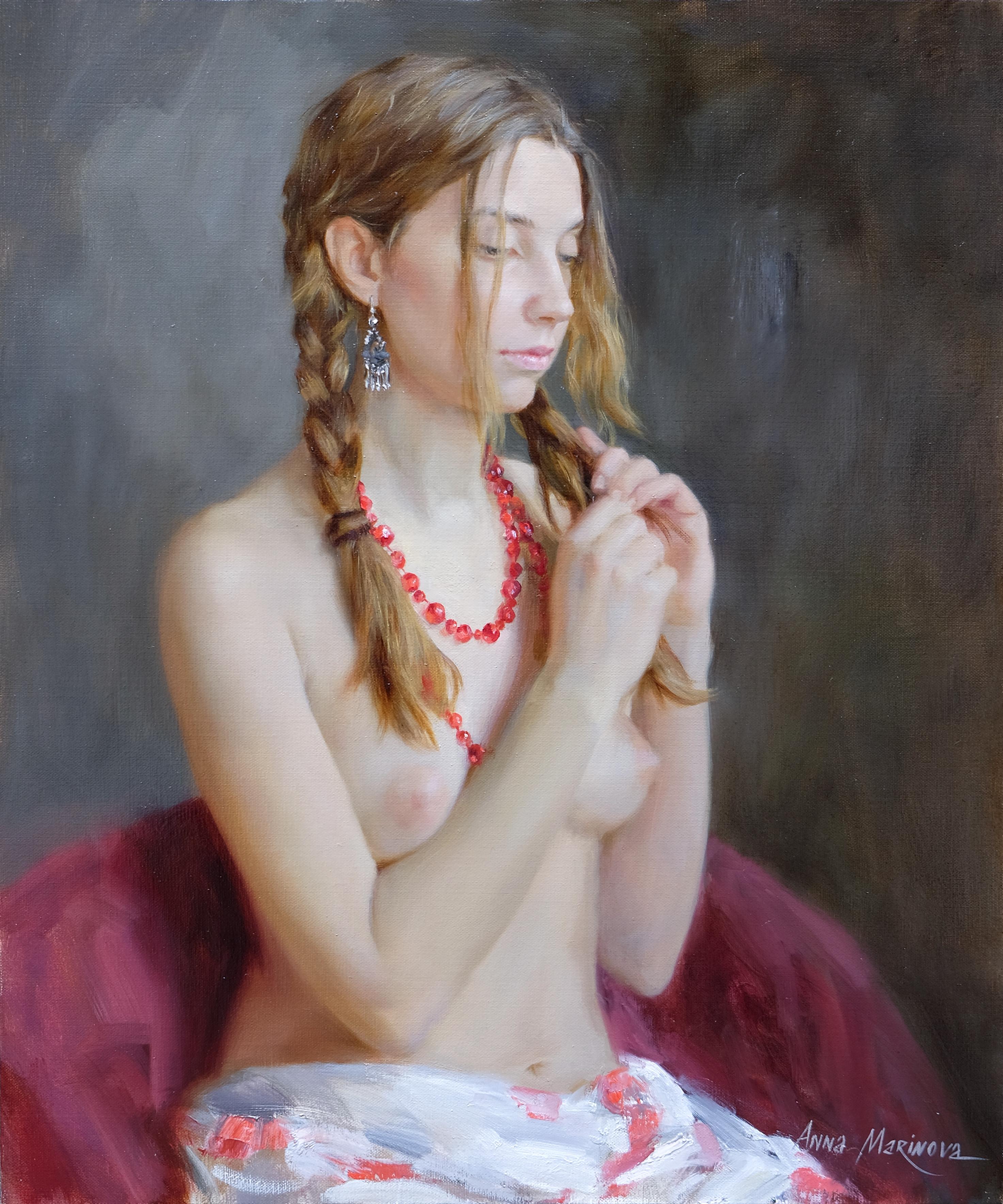 Red beads/Красные бусы