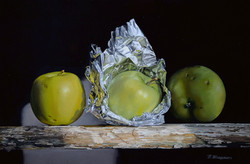 The apples in foil