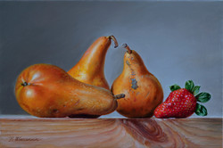 Pears and strawberries