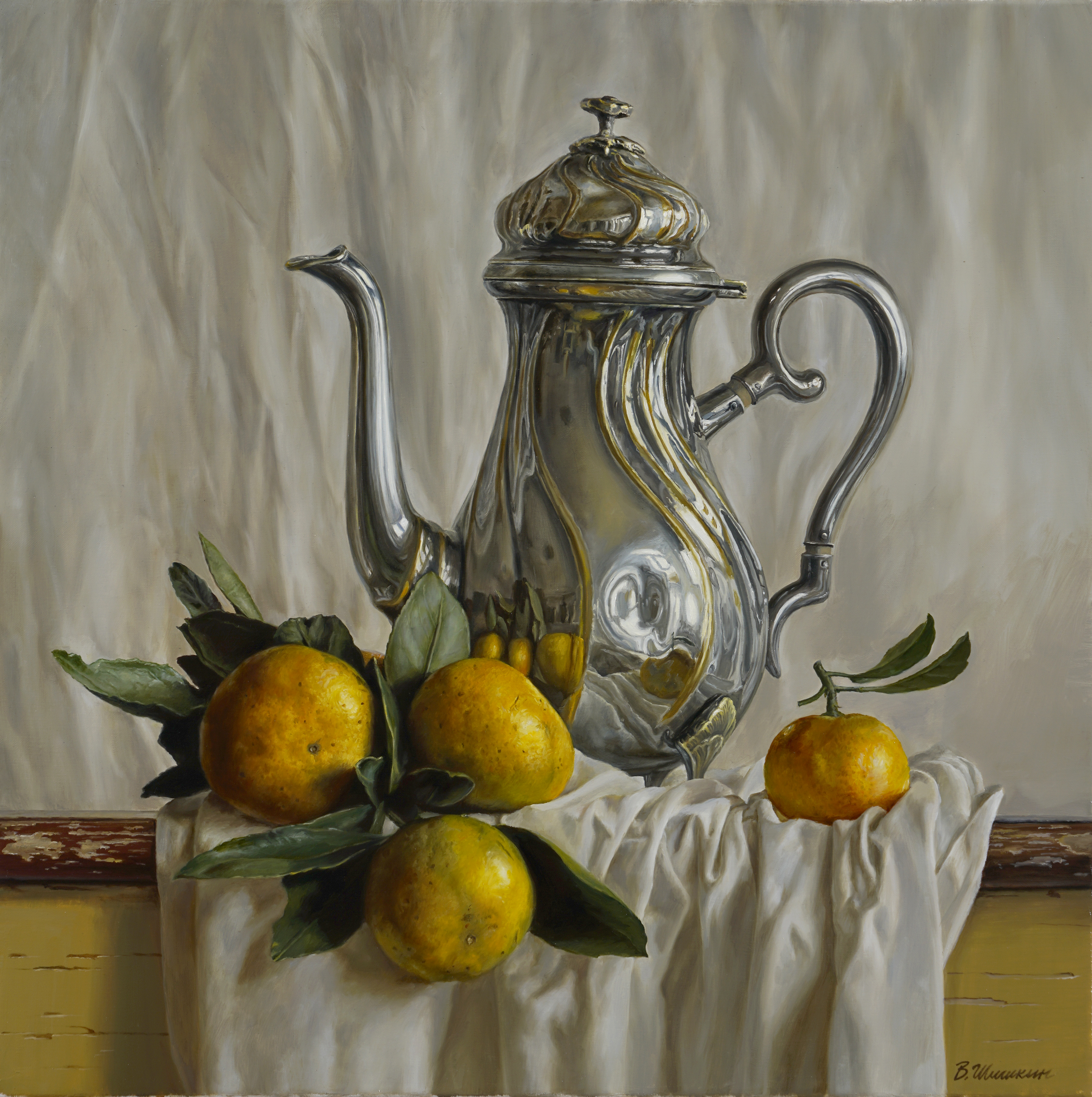 Teapot with mandarins