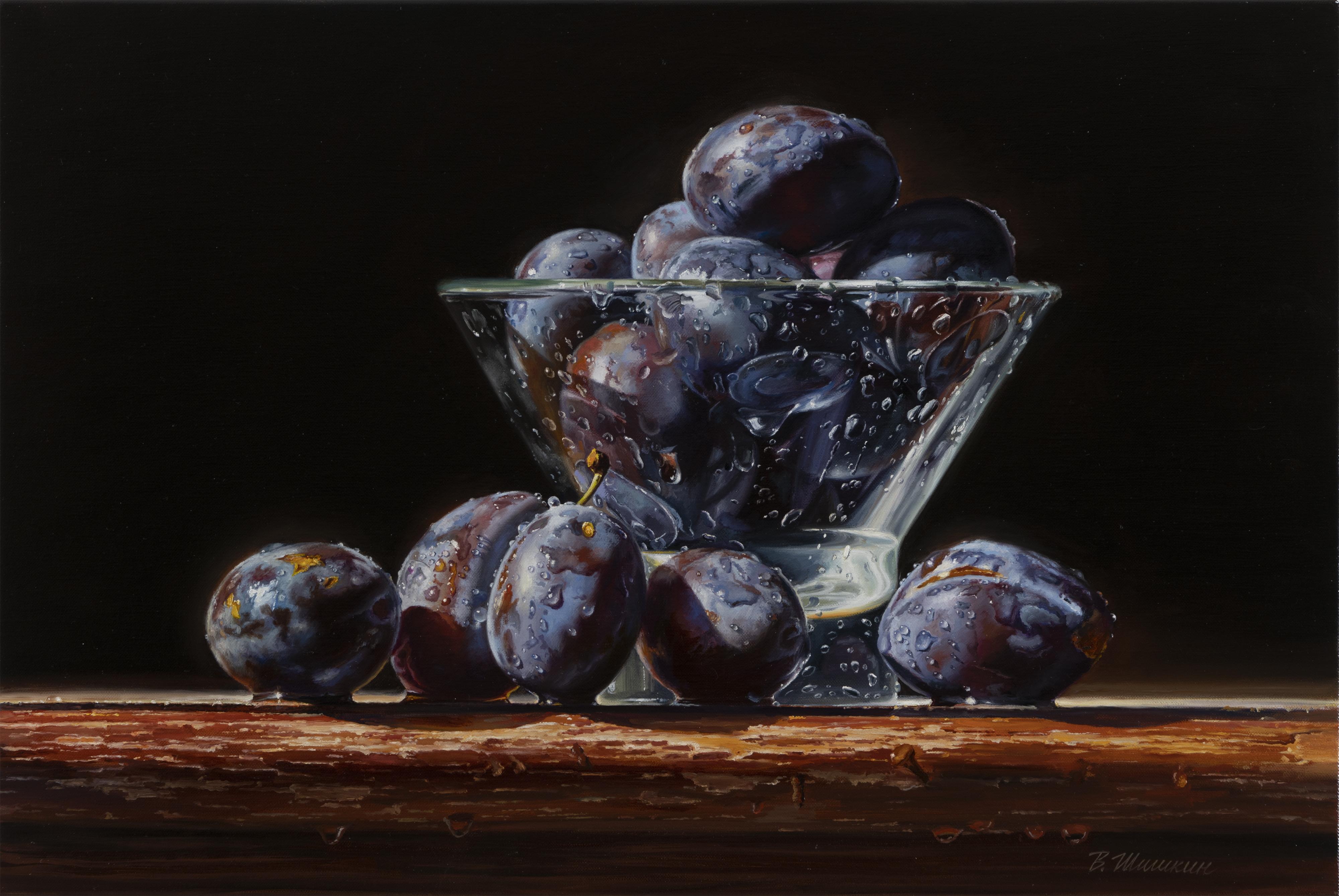 Wet plums