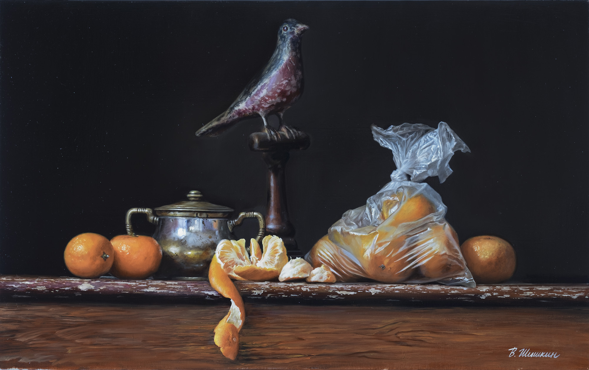 Still life with a bird