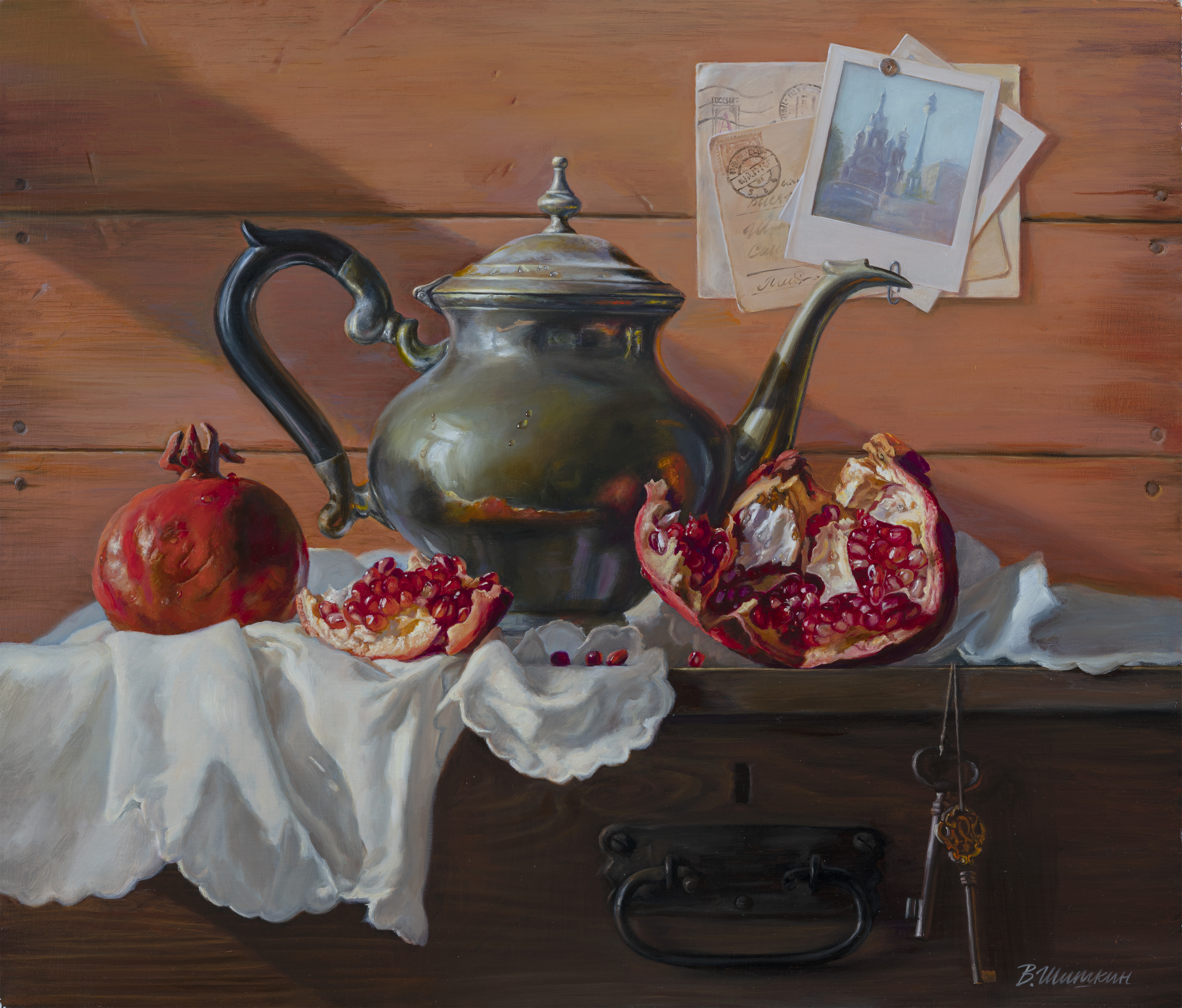 Teapot on the boards