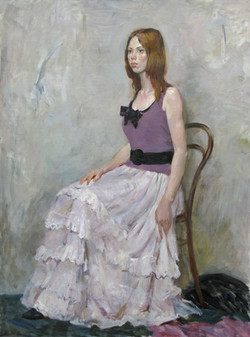 Portrait of a girl in a white skirt