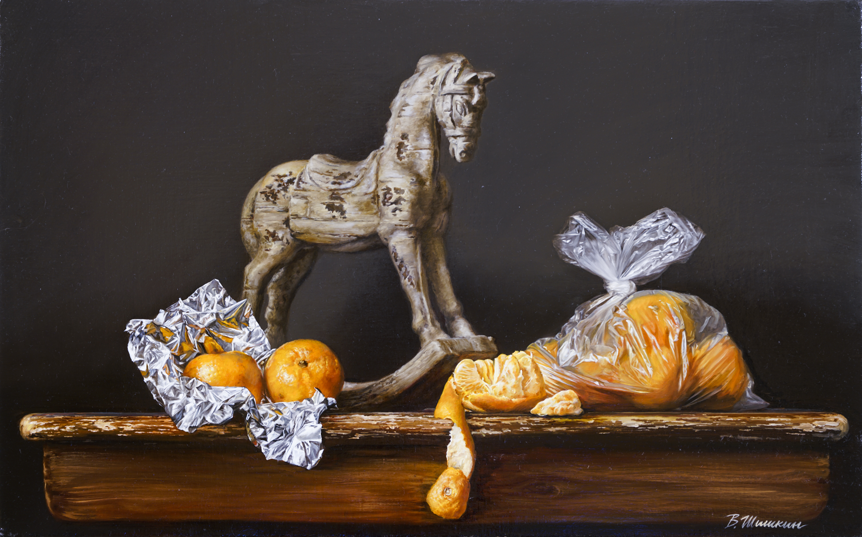 Still life with a horse