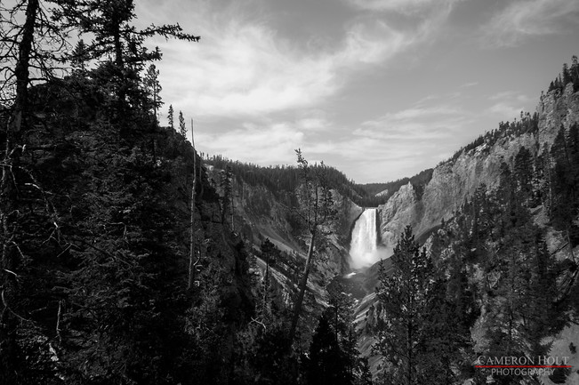 Lower Falls in Black and White